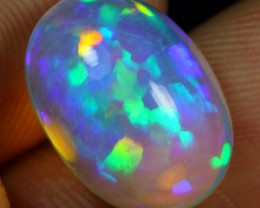 AAA 6.30cts Rainbow 3D Puzzle Pattern Ethiopian Opal