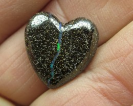 "16cts, ""BOULDER OPAL~DRILLED HEART SHAPE STONE"""