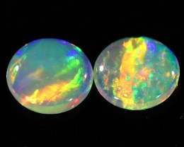 0.97CTS Pair COOBER PEDY OPAL PARCELS GREAT COLOUR PLAY   S349