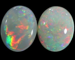 3.15 CTS WHITE FIRE OPAL PAIR[C143]safe