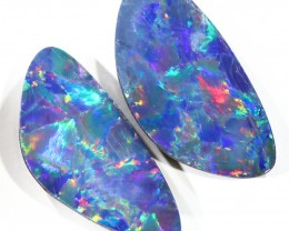 7.37CTS  OPAL DOUBLET PAIR , GREAT COLOUR PLAY --S358