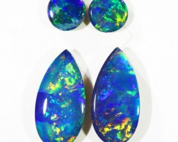 1.30CTS Set 4 COOBER PEDY OPAL DOUBLETS  PARCELS GREAT COLOUR PLAY   S375