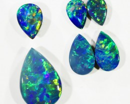 4.72CTS Set 6 COOBER PEDY OPAL DOUBLETS  PARCELS GREAT COLOUR PLAY   S376