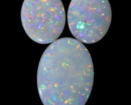 3.84 CTS WHITE FIRE 3 SET OPALS [C161]safe