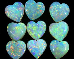 3.85CTS 9 PIECES CALIBRATED OPAL PARCEL GREAT COLOR PLAY- S387