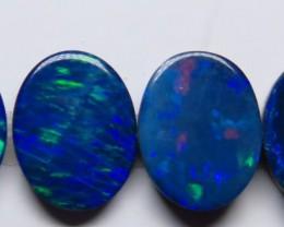 9mm  x 7mm  4 Stone Australian Doublet Opal Parcel