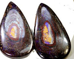 128.7CTS BOULDER OPAL PAIR STONE NC-5506