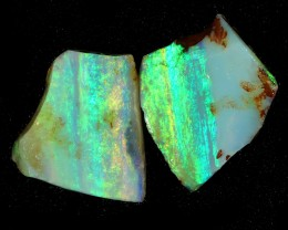 8.30Cts 2pcs Mintabie opal slices SU1473