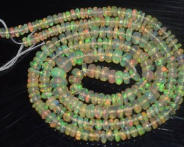 32.55 Ct Natural Ethiopian Welo Opal Beads Play Of Color