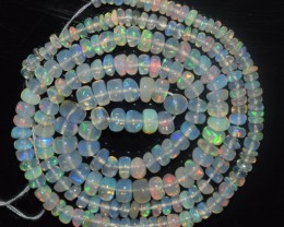 31.50 Ct Natural Ethiopian Welo Opal Beads Play Of Color