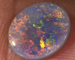 1.75ct 10x8.5mm Solid Lightning Ridge Dark Opal [LO-1096]
