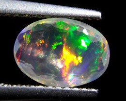 """1.34 ct  """"Exclusive""""Natural Ethiopian Transparent Paly Of  Fire O"""
