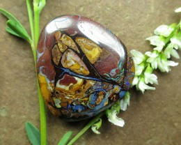 "47cts,""BOULDER MATRIX OPAL~PICTURE PATTERN"""