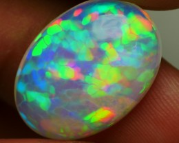 7.25 CRT BEAUTY RAINBOW PRISM HONEYCOMB PATTERN WELO OPAL-