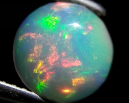 1.51 ct Lovely Natural Ethiopian Fire Opal Round Cabochon