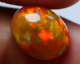 5.25 CRT STUNNING BROWN BASE BROADFLASH NEON FIRE WELO OPAL-