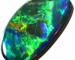 1.25 CTS  GEM OPAL DOUBLET FROM LIGHTNING RIDGE. [SEDA1340]SAFE