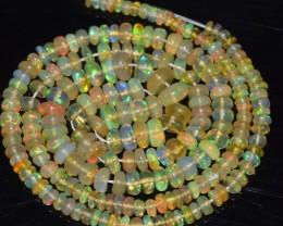 40.60 Ct Natural Ethiopian Welo Opal Beads Play Of Color