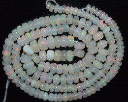 42.60 Ct Natural Ethiopian Welo Opal Beads Play Of Color