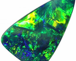 4.90 CTS  QUALITY OPAL DOUBLET FROM LIGHTNING RIDGE. [SEDA1397]SAFE