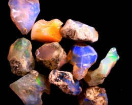 Parcel  Rough Wello Opals  Tot.Cts.27.40    RT268    10   Stones
