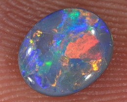 0.5ct 6.5x5.3mm Solid Lightning Ridge Dark Opal [LO-1105]
