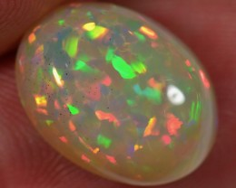 5 CT WELO OPAL CABACHON - CRAZY BRIGHT PUZZLE PATTERN