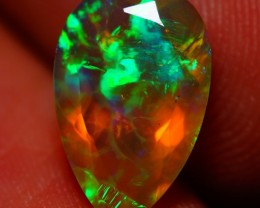 1.72 CT FACETED !!GOOD QUALITY BEAUTIFUL FLASHY MULTI COLOR WELO OPAL-JH15E