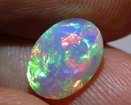 1.30 ct Stunning Full Face Gem Rainbow Welo Facet