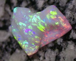 18.93ct EXTR BRIGHT DARK BASED CARVED STRIPE PATERN OPAL COLLECTORS ONE