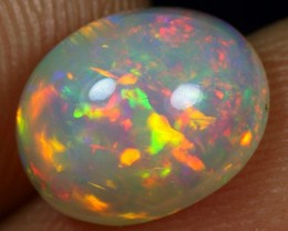 2.40cts FLASH ORANGE MULTI FIRE Natural Ethiopian Welo Opal
