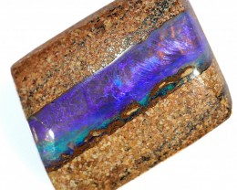 5.8ct 16x10mm Pipe Wood Fossil Boulder Opal  [LOB-1792]