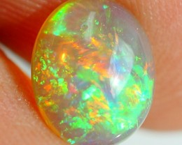 9X7MM TOP BEAUTIFUL FLASHY MULTI COLOR WELO ETHIOPIAN OPAL -AE82