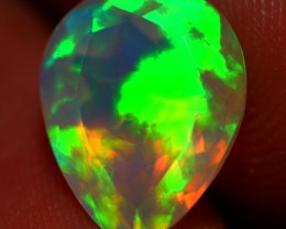 2.28 CT FACETED CUT!!GOOD QUALITY BEAUTIFUL FLASHY MULTI COLOR WELO OPAL -J