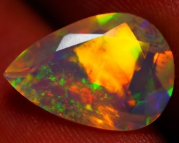 2.06 CT FACETED CUT ! BEAUTIFUL FLASHY MULTI COLOR WELO OPAL-JH21E
