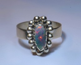 6.5SZ  SOLID ETHIOPIAN WELO OPAL STERLING .925  RING