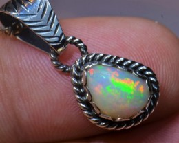 9.16CTTW SOLID ETHIOPIAN WELO OPAL STERLING .925  PENDANT