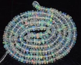 24.85 Ct Natural Ethiopian Welo Opal Beads Play Of Color