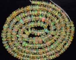 28.35 Ct Natural Ethiopian Welo Opal Beads Play Of Color