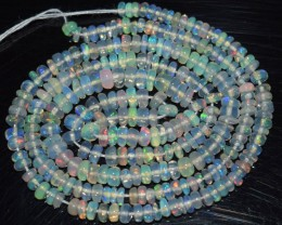 25.55 Ct Natural Ethiopian Welo Opal Beads Play Of Color