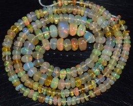 35.50 Ct Natural Ethiopian Welo Opal Beads Play Of Color