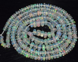 28.15 Ct Natural Ethiopian Welo Opal Beads Play Of Color