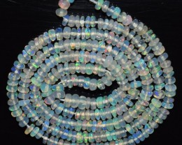 23.25 Ct Natural Ethiopian Welo Opal Beads Play Of Color