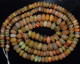 40.90 Ct Natural Ethiopian Welo Opal Beads Play Of Color
