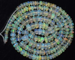 45.15 Ct Natural Ethiopian Welo Opal Beads Play Of Color