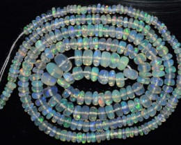 35.95 Ct Natural Ethiopian Welo Opal Beads Play Of Color