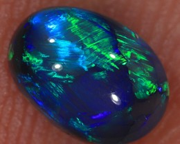 0.92ct 7x5mm Solid Lightning Ridge Black Opal [LO-1115]