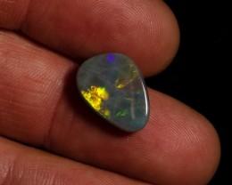 SALE PRICE 5.45 carat Allens Rise black opal metallic fire pattern