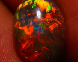 2.84 CT DARK BODY!!FLASHY MULTI COLOR WELO ETHIOPIAN OPAL-JI 205