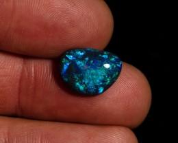 4.25 carat Lightning Ridge Black Opal Blue Green Fire